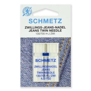 Иглы Schmetz - джинс двойные 130/705H-J ZWI № 100/4.0, 1 шт.