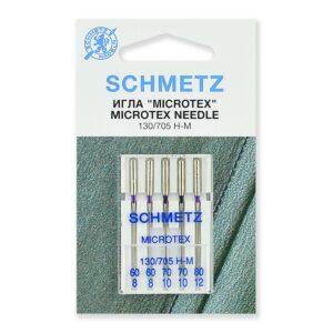 Иглы микротекс (особо острые) 130/705H-M № 60(2),70(2),80, 5 шт.